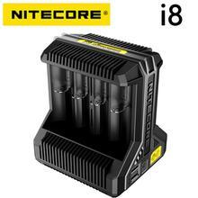 Nitecore i8 akıllı şarj cihazı 8 yuvaları toplam 4A çıkış akıllı şarj cihazı için IMR18650 16340 10440 AA AAA 14500 26650 ve USB cihaz