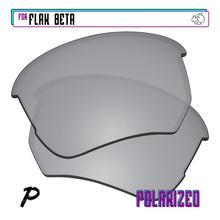 EZReplace Polarized Replacement Lenses for - Oakley Flak Beta Sunglasses - Silver P