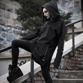 2019 Gothic Frauen Hoodie Casual Langarm Mit Kapuze Zip-up Lange Sweatshirts Mit Kapuze Weibliche Jumper Frauen Trainings Hoodie Kleid