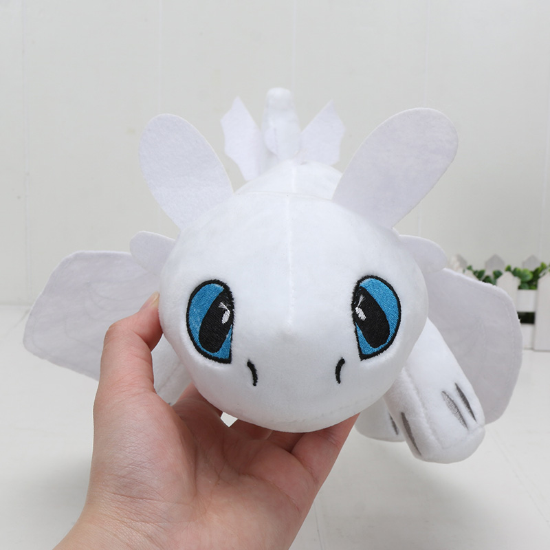 5pcs/lot  How To Train Your Dragon 3 Toothless Light Fury Plush Soft Stuffed Night Fury Dragon Doll Baby Toy