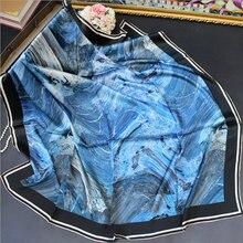 Женский Классический квадратный шарф шелковый Элегантный ручной