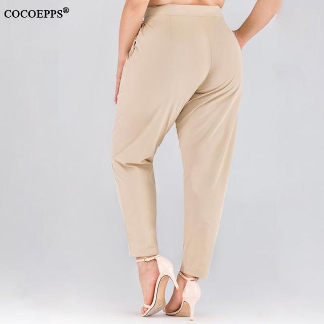 XL-4XL 2020 Spring Plus size Women Harem Pants Casual Summer Office Ladies Trousers Large Size Female High Wiast Khaki Work Pant 22