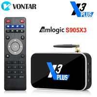 X3 Plus TV, pudełko Android 9.0 Smart TV BOX TV, pudełko S905X3 DDR4 RAM 4GB 64GB 2.4G/5G Wifi 1000M Bluetooth 4.2 dekoder 4K HD