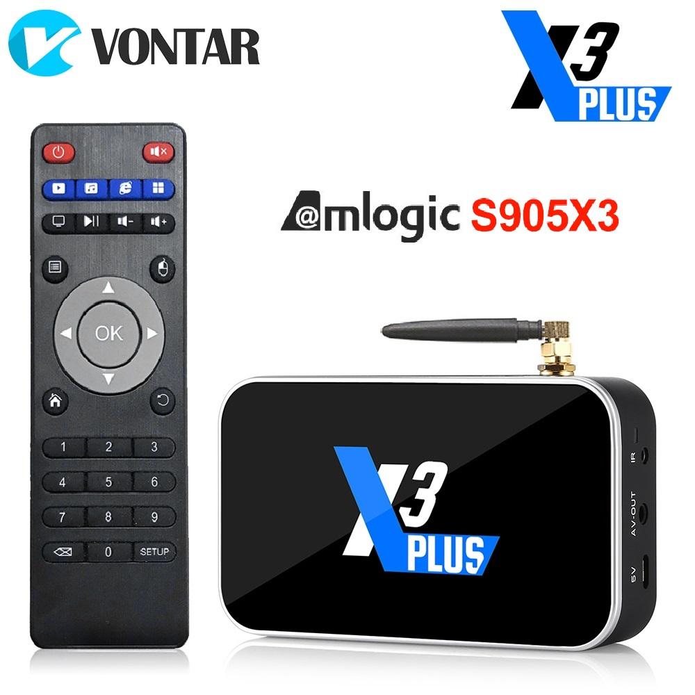 X3 Plus TV BOX Android 9.0 Smart TV Box S905X3 DDR4 RAM 4GB 64GB 2.4G/5G Wifi 1000M Bluetooth 4.2 Set Top Box 4K HD