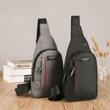 цена Men's Canvas Leisure Chest Bag Male Outdoor Sports Backpack Multi-purpose Change Mobile Men Chest Bag онлайн в 2017 году