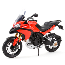Maisto 1:12 Ducati vehículos Multistrada 1200S, Red fundido a presión, pasatiempos coleccionables, juguetes modelo de motocicleta