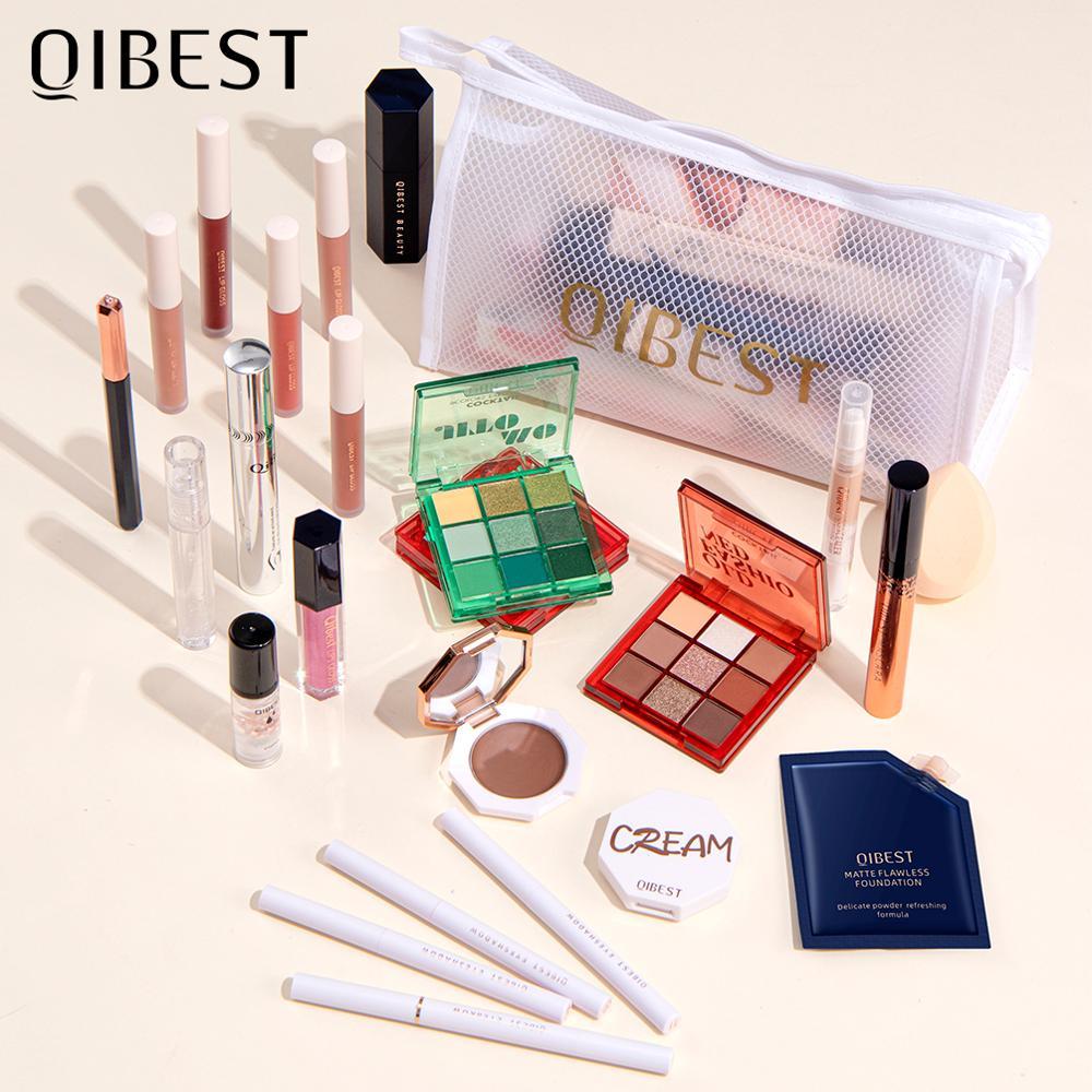 Купить набор для профессионального макияжа qibest все в одном косметический