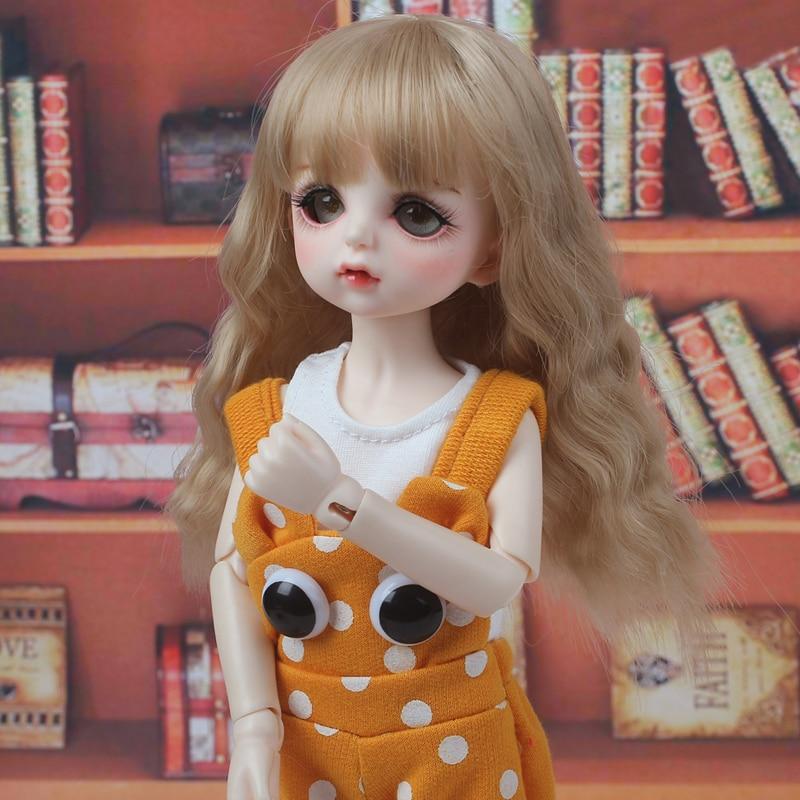 1/3 1/4 1/6 1/8 Bjd Wig High Temperature Cute Wavy Wire White Bjd Wig SD For BJD Doll Hair Wig