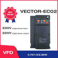 Vector Heavy-Load 220V 750W/1.5kW/2.2KW Variable Frequency Drive Single-Phase Speed Controller Inverter Motor Angisy EC02