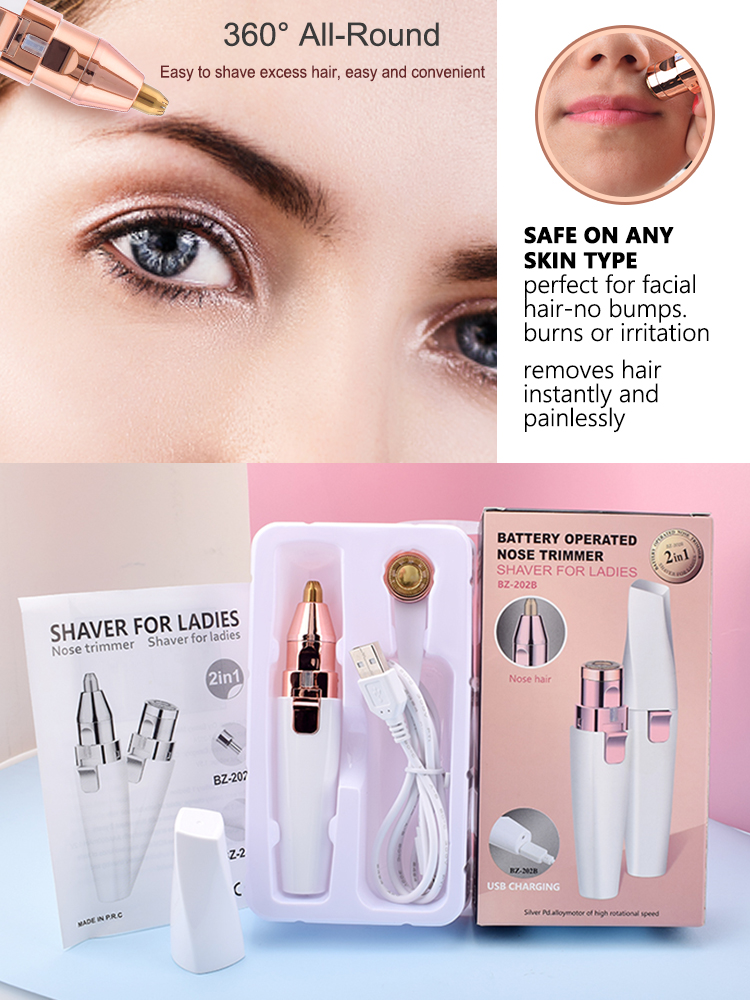 Epilator Razor-Shaver Eyebrow-Trimmer Hair-Removal Lipstick-Shape Facial Painless Electric