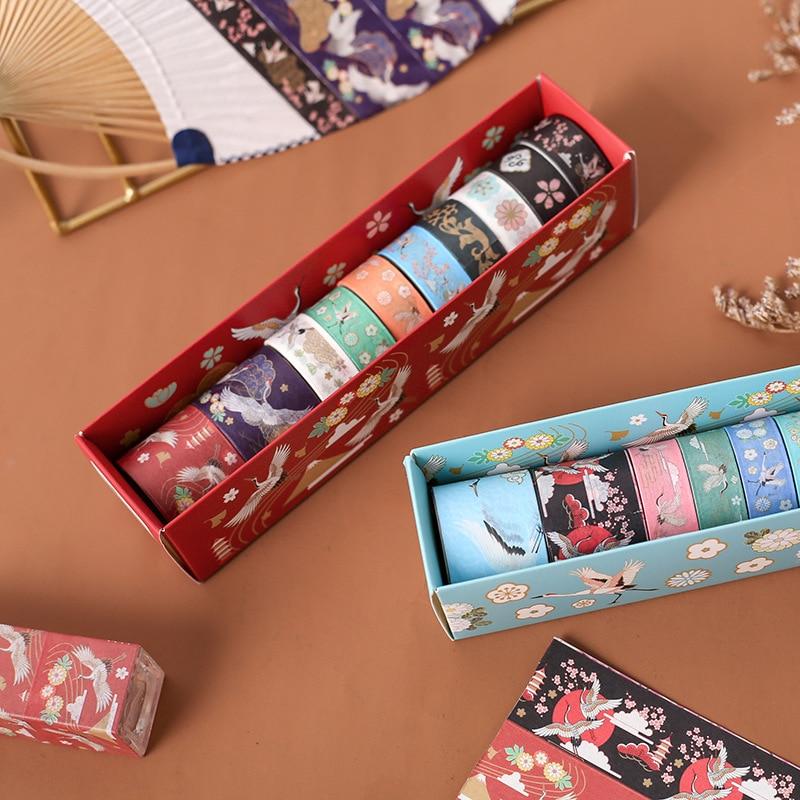 10 Pcs / Set Washi Tape Cherry Masking Tape Cartoon Stickers Scrapbooking Kawaii Cinta Adhesiva Decorativa Washitape
