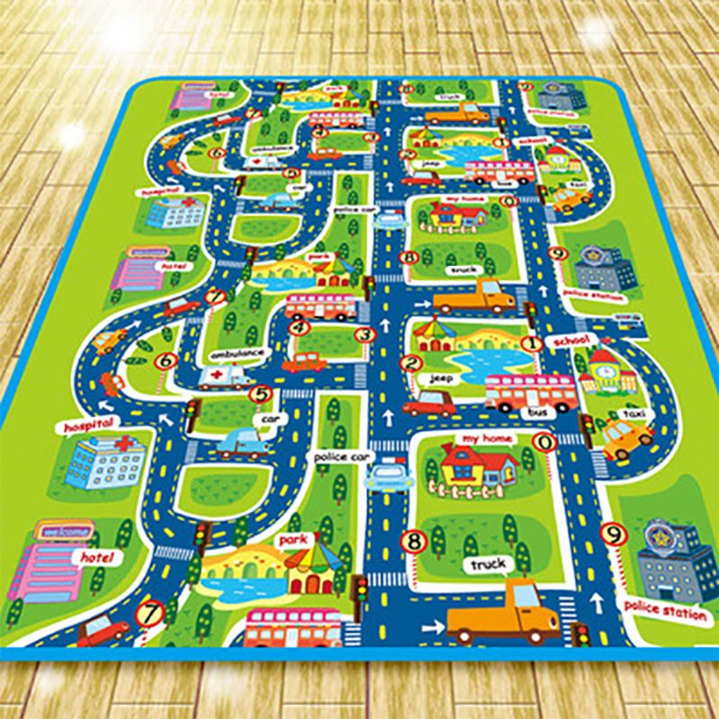 Extra Large Foldble Waterproof Crawling Mat, City Life Great For Playing With Cars And Toys, Children Educational Road Traffic P