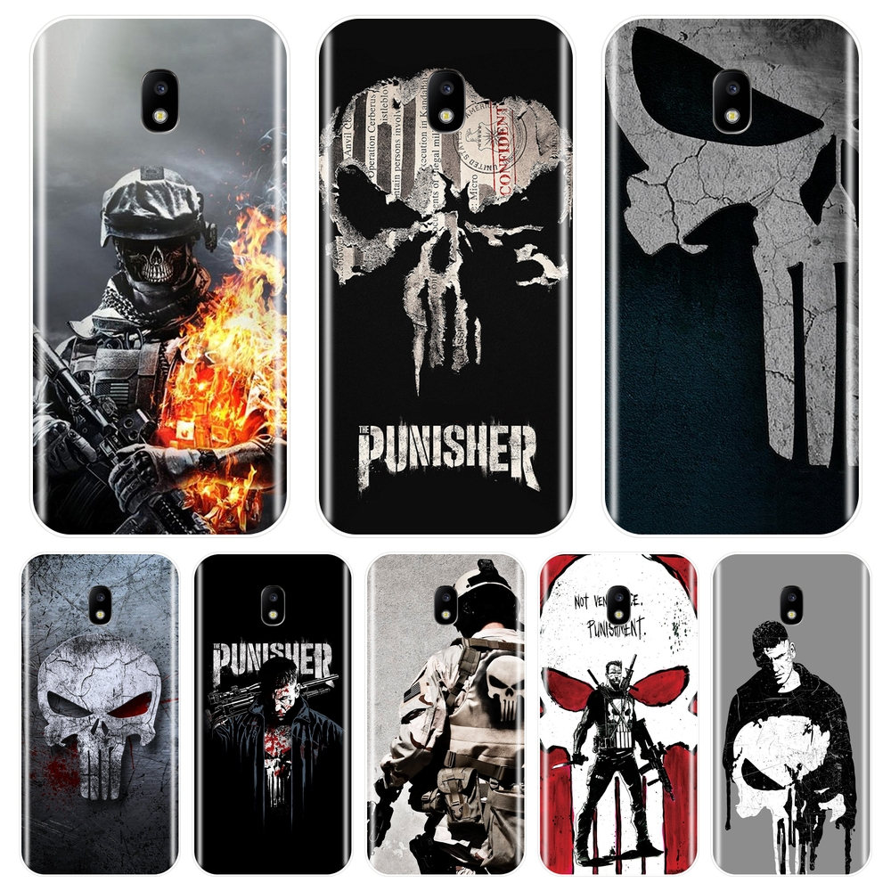 Phone Case For Samsung Galaxy J2 J5 J7 Prime Silicone Punisher Back Cover For Samsung J3 J5 J7 2015 2016 2017 J4 J6 J8 Plus 2018 image