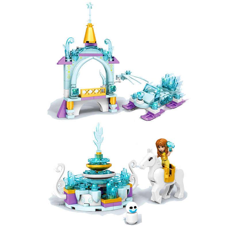 كتل مكعبات 8 في 1 من سلسلة ألعاب الأصدقاء 700 + قطعة مكعبات بناء إلسا آنا أولاف المجمدة ألعاب للأطفال هدايا أعياد الميلاد