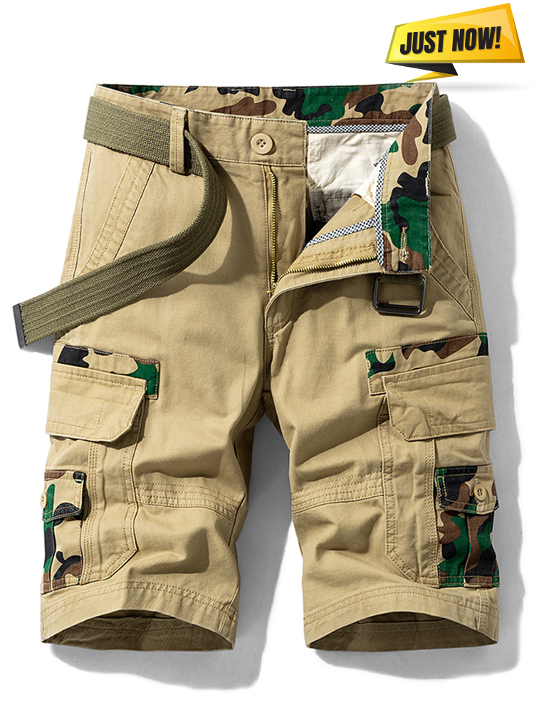 Camouflage Shorts Outwear Pockets Vintage Luulla Casual Cotton Summer Fashion New Classic