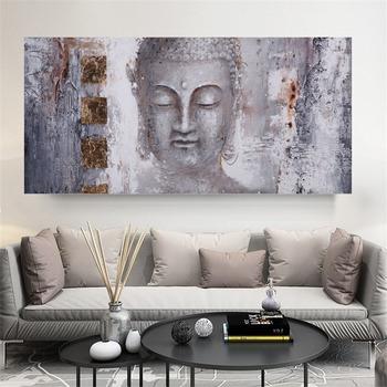 Plakaty obrazy na płótnie obrazy buddy obrazy na ścianę do salonu nowoczesny drukowany obraz duże rozmiary dekoracyjne obrazy bez ramki tanie i dobre opinie SELFLESSLY ART CN (pochodzenie) Płótno wydruki Pojedyncze Wodoodporny tusz Buddha Unframed Nowoczesne tableau-peinture-bouddha