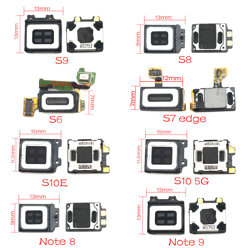 New Ear Speaker For Samsung Galaxy S8 G950 S8 Plus G955 S9 S10 S10e S7 Edge Earpiece Earspeaker Flex Cable Replacement Parts