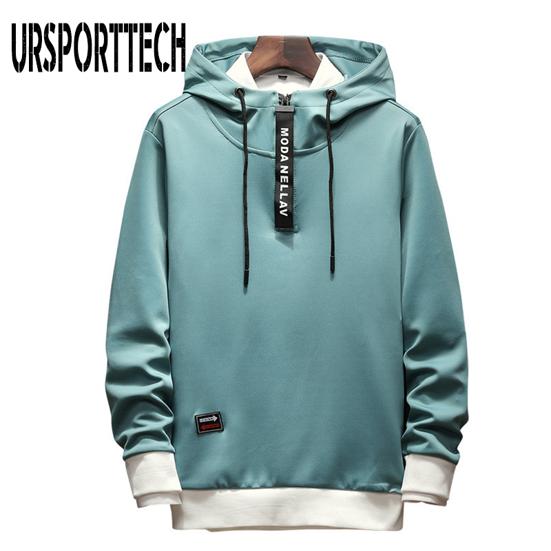 Autumn Men Hoodies Sweatshirts Men Long Sleeve Zipper Collar Hip Hop Harajuku Hoodies Pullover Man Hoodie Japanese Streetwear5XL