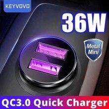 Metalen 36W Quick Charge 3.0 Usb Auto Lader Snel Opladen Lader Voor Xiaomi Samsung Huawei Qc 3.0 Mobiele Telefoon opladen Voor Iphone