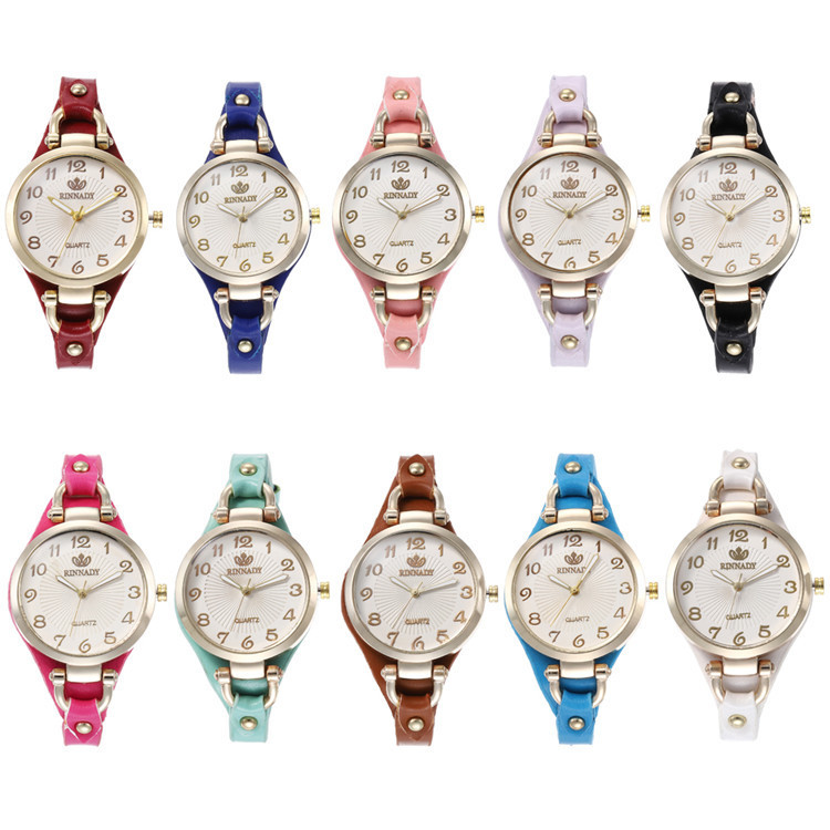 Fashion Belt Series Bracelet Watch Exquisite Multicolor Circular Digital Watches Joker Lady Wrist Watch