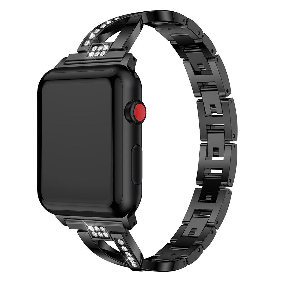 For Apple Watch band 40mm 44mm 38mm 42mm women Diamond Band for iWatch series 4 3 2 1 bracelet stainless steel strap Wristband in Watchbands from Watches