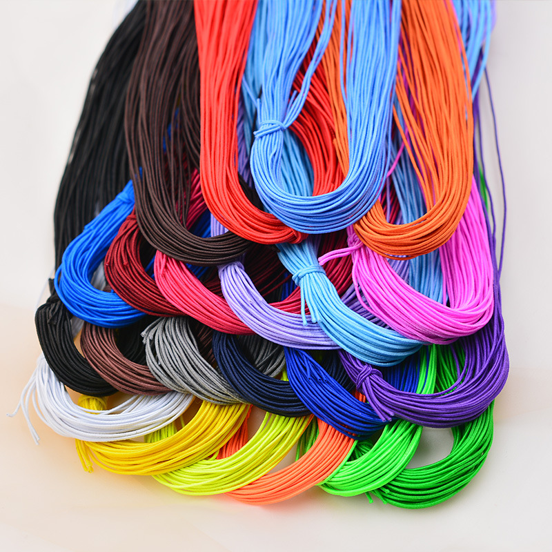 1mm Colorful High-Elastic Bands Line Rope Jewelry Bracelets Beads Making Garment Tag DIY Crafts Supply Accessories 5meters
