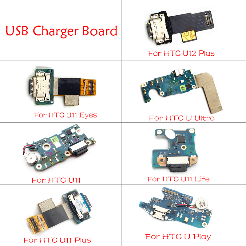 USB Charging Port Dock Charger Plug Connector Board Flex Cable For HTC U11 Plus Play Life U Ultra U12 Plus Repair Spare Parts