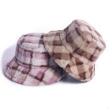 Осень зима 2020 новая шапка в рыбацком стиле с принтом из кроличьего