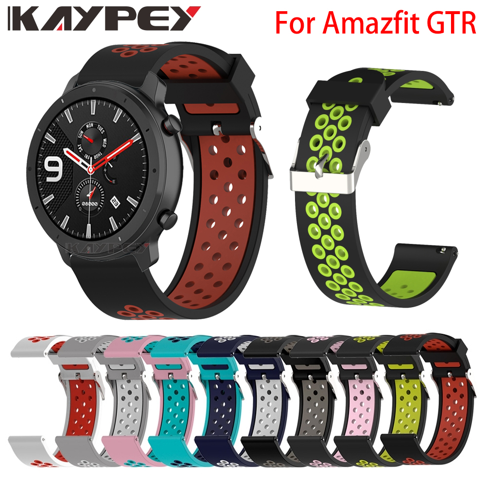 New Replacement Sport Silicone Watch Strap For Xiaomi Huami Amazfit GTR 47/42mm Watch Band Bracelet Wrist Band Watch Accessories