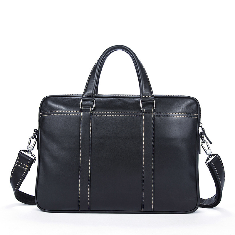 Men Leather Briefcase Laptop Bag Men Shoulder Office Bags For 14 Inch Maletines Hombre Trabajo Briefcase Brand Sale