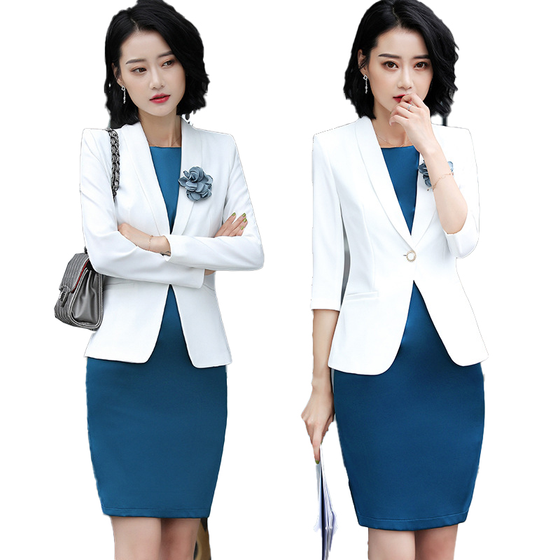 Femme Formal Dress Blazer Women Dresses With Jacket Women's  Dress Suit Set Office Wear Work For Ladies Evening Elegant Costumes