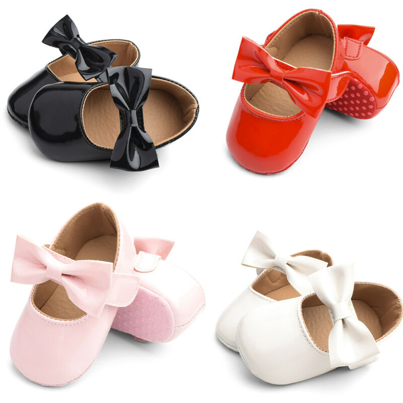 Pudcoco 2020 Baby Girls Shoes  Children Wedding Kids Princess Dance PU Bowknot Shoes First Walkers  Soft Sole