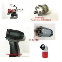 10.8V 12V Metabo PowerMaxx BS10.8V anahtarı redüktör konnektörü motor kapaklı kabuk durumda PowerMaxxBS10.8V