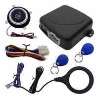 12V Car Start Stop Button Engine Push Start Button Alarm RFID Lock Keyless System Door Push Button Tactile Buttons