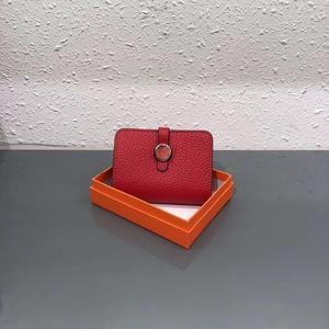 Image 5 - 9 Colors Genuine Leather Wallets Purses Fashion Small money bag luxury Mini  Coin Purse Hasp design purse
