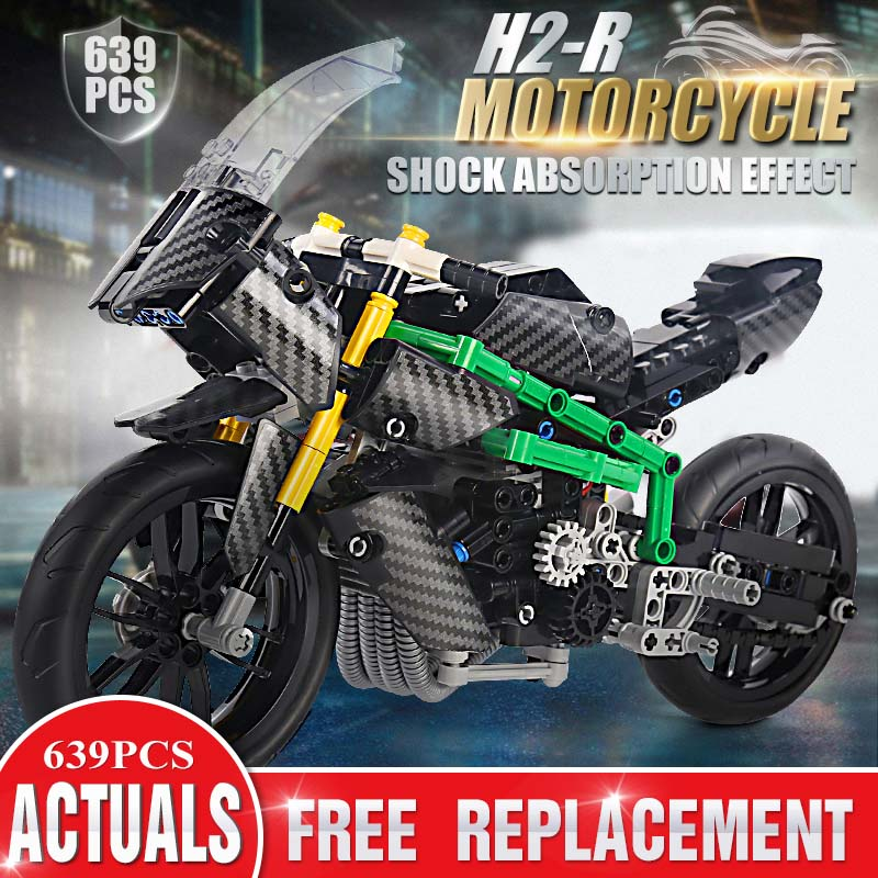 Bricks Toys Building-Blocks Superbike-Toys Motorcycle-Set Mould King High-Tech Kids 23002