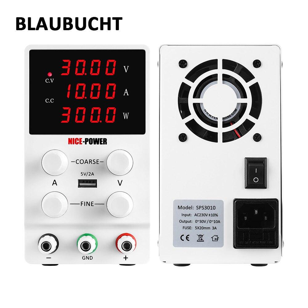 BLAUBUCHT 30V 10A DC Switching Lab Adjustable Power Supply Laboratory Bench Source Digital Current Stabilizer EU US AU UK 220 V-0