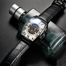 Transparent Fashion Mechanical Skeleton men watch skull Gear Movement Royal Design Men Vintage Top Brand Luxury Male Wrist Watch winner classic design transparent case golden movement inside skeleton wrist watch men watches top brand luxury mechanical watch