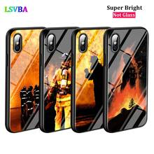 Black Cover Heroes Fireman for iPhone X XR XS Max for iPhone 8 7 6 6S Plus 5S 5 SE Super Bright Glossy Phone Case black cover japanese samurai for iphone x xr xs max for iphone 8 7 6 6s plus 5s 5 se super bright glossy phone case