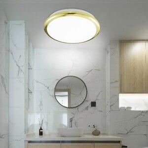 Image 4 - Zerouno 현대 led 천장 조명 방수 욕실 조명 침실 거울 빛 18w 24w 30w 32w 모션 센서 천장 조명