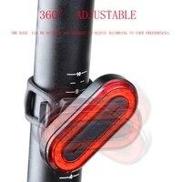 USB Recarregável Luz Traseira da bicicleta Ciclismo LED Luz Traseira Traseira Cabo USB Luz de Aviso de Segurança Da Lâmpada 100 Lumens Portátil Titular|Luz de bicicleta| |  -