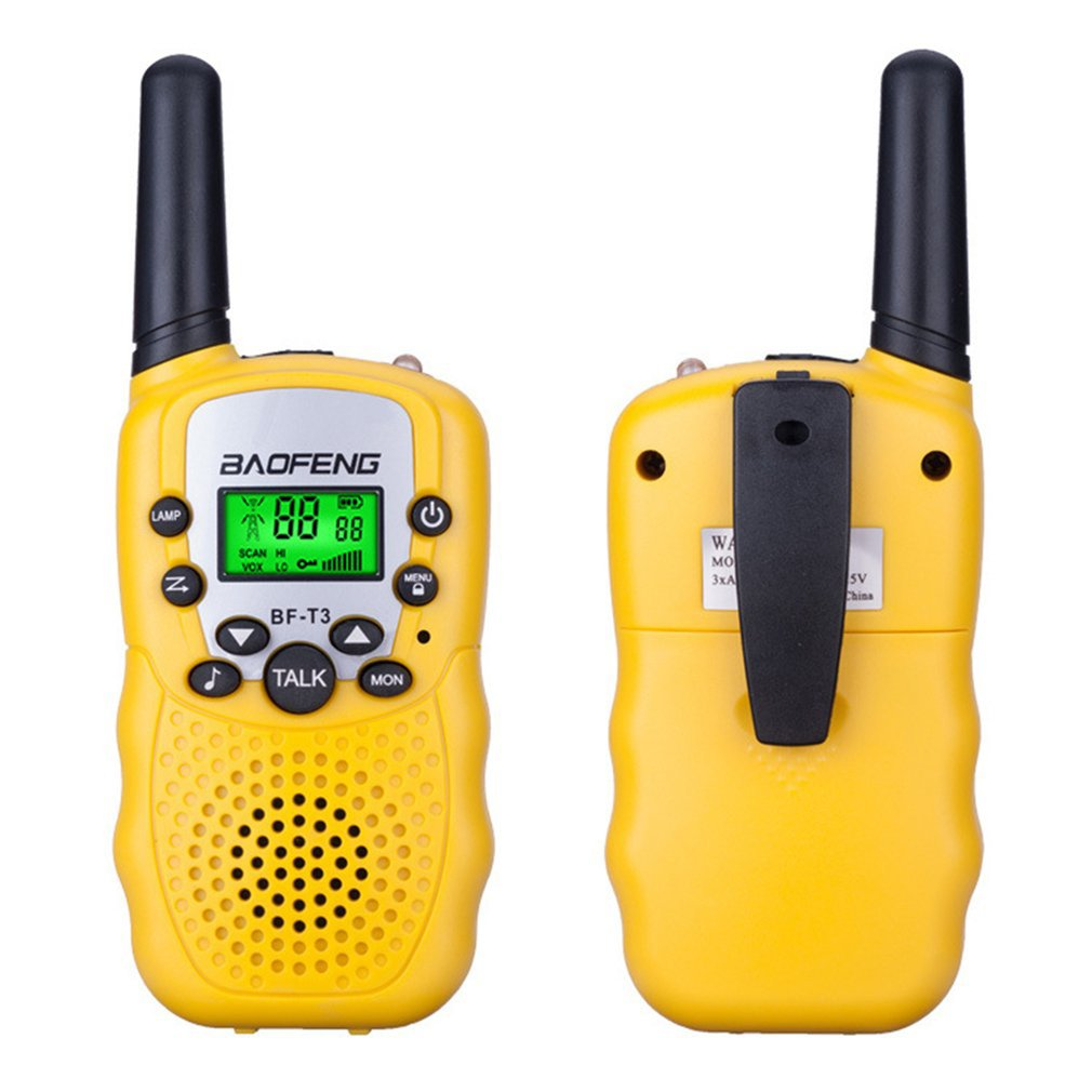 2PCS Mini Children'S Walkie Talkie Bf-T3 Long Range Max 5Km Walkie Talkie 2 Way Ham Radio Interphone Child Gift Toy