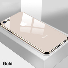 Mirror Plating Glass Tempered Back Case for iPhone