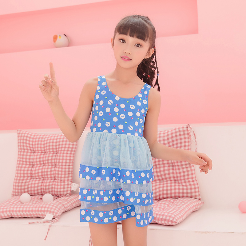 Children Skirt-One-piece Swimming Suit GIRL'S Boxer Lace Dress Big Boy GIRL'S Swimsuit Nt493122