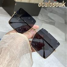2020 nova mulher sexy óculos de sol uv grande quadro quadrado óculos de sol
