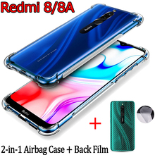 Airbag Case+Back Film for Redmi-8 8A Xiaomi Soft Anti-shock TPU Case