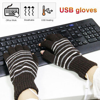 USB Heated Gloves Winter Thermal Hand Warmer Electric Heating Glove For Indoor Office Bike Cycling Glove electric thermal gloves winter usb hand warmer cycling motorcycle bicycle ski gloves rechargeable battery heated gloves