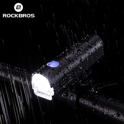 ROCKBROS Bicycle Front Light Set USB Rechargeable Headlight 800 Lumen LED IPX6 Waterproof Bike Lamp Flashlight Cycling Lights