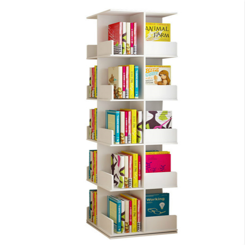Creative Tree-shaped Rotating Bookshelf Storage Bookcase Landing Table Student Picture Book Shelf