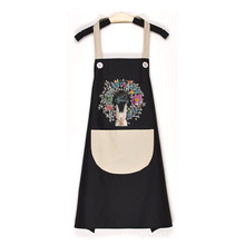 New cute cooking female apron home kitchen waterproof and oil-proof casual fashion adult work waistline cloth Waterproof wq002 kitchen oil proof cloth apron black